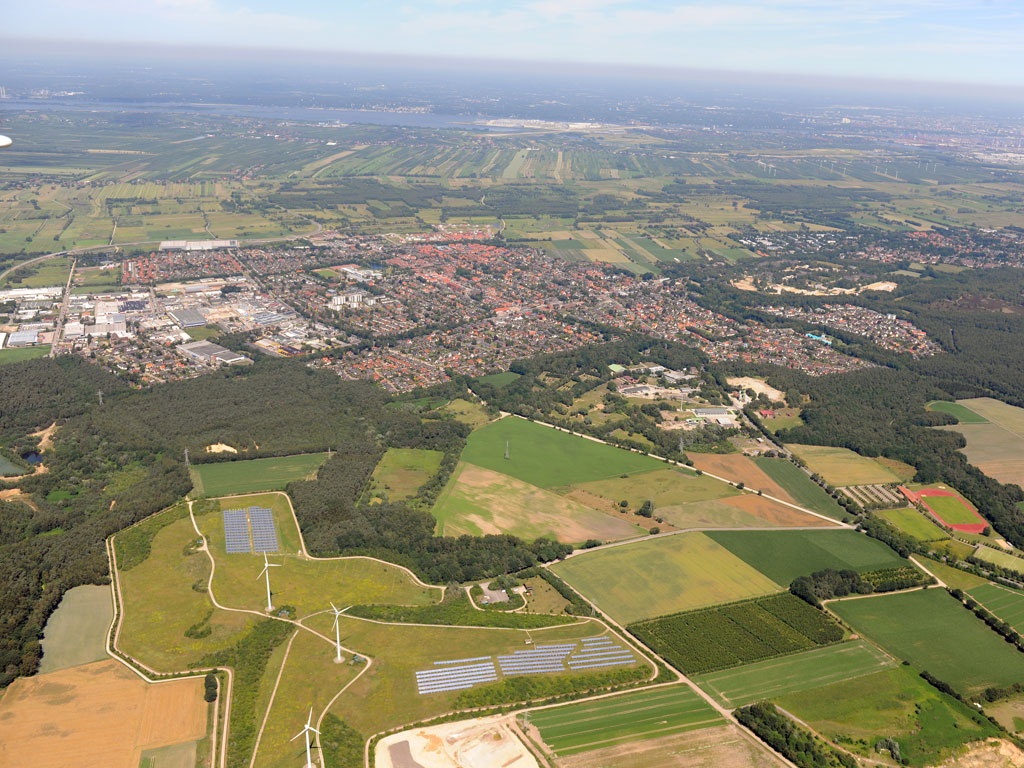 Luftaufnahme von der Gemeinde Neu Wulmstorf