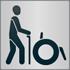 """Das Piktogramm """"Menschen mit Gehbehinderung"""" signalisiert, dass das Angebot für Menschen mit Gehbehinderung barrierefrei ist"""