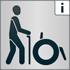"""Das Piktogramm """"Menschen mit Gehbehinderung"""" signalisiert, dass das Angebot für Menschen mit Gehbehinderung teilweise barrierefrei ist"""