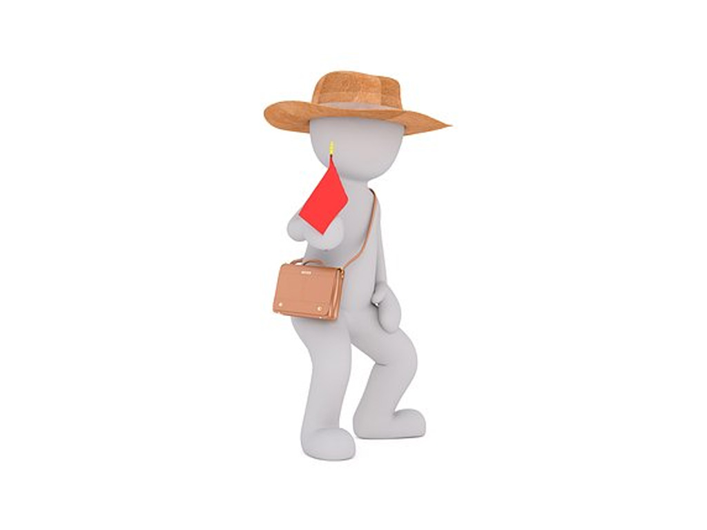 Weißes Männchen mit Hut